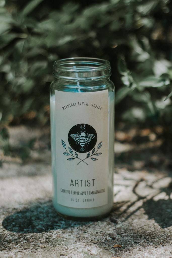 Artist Manifestation Jar Candle