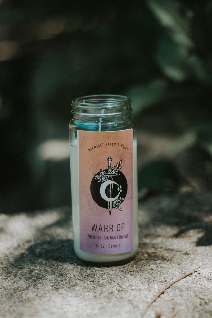 Warrior Manifestation Jar Candle