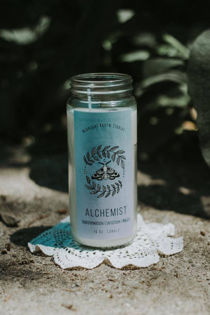 Alchemist Manifestation Jar Candle