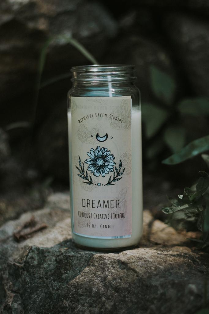 Dreamer Manifestation Jar Candle